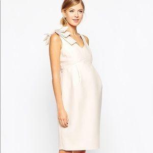 ASOS blush maternity cocktail dress